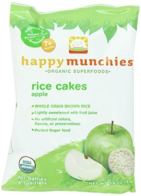 Happy Munchies Rice Cakes, Apple, 1.4 Ounce Bags (Pack of 10)