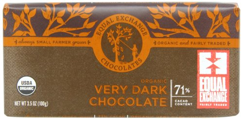 Equal Exchange Organic Very Dark Chocolate, 3.5-Ounce (Pack of 6)