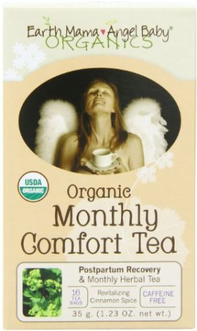Earth Mama Angel Baby Organic Monthly Comfort Tea, 16 Teabags/Box  (Pack of 3)