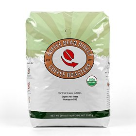Coffee Bean Direct Nicaraguan, Shade Grown Organic Fair Trade Ground Coffee, 5-Pound Bag