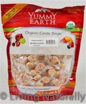 Yummy Earth – Organic Candy Drops Gluten Free Hopscotch Butterscotch – 13 oz.