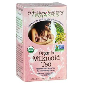 Earth Mama Angel Baby Organic Milkmaid Tea, 16 Teabags/Box  (Pack of 3)