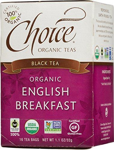 Choice Organic English Breakfast Tea, 1.1 Ounces 16 Count Box