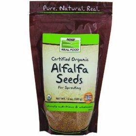 NOW Foods Real Food Certified Organic Alfalfa Seeds — 12 oz