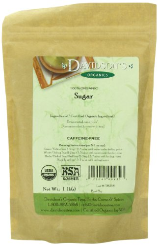 Davidson's Tea Bulk, Organic Sugar, 16-Ounce Bag