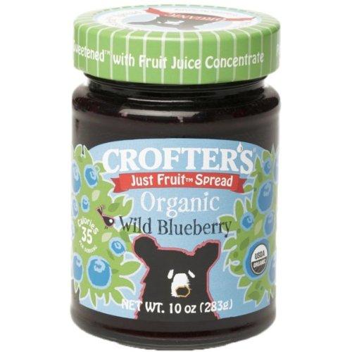 Crofters Organic Just Fruit Spread Wild Blueberry — 10 oz
