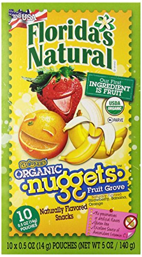Florida's Natural Fruit Grove Au'some organic. Nuggets 10 count  0.5 oz (14g) pouches