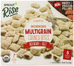 Sprout Rise Morning Multigrain Crunch Bites, Red Berry and Beet, 3.75 Ounce
