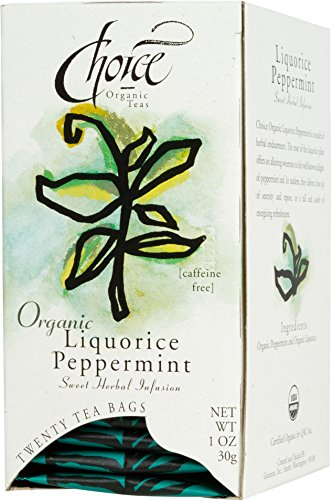 Choice Organic Liquorice Peppermint Tea, 20 Count Box