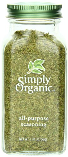 Simply Organic All-Purpose Seasoning, Certified Organic, 2.08-Ounce Container