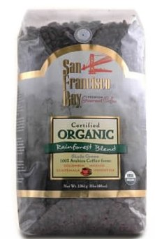 San Francisco Bay 100% Organic Coffee Rainforest Blend Whole Bean 3 Lbs