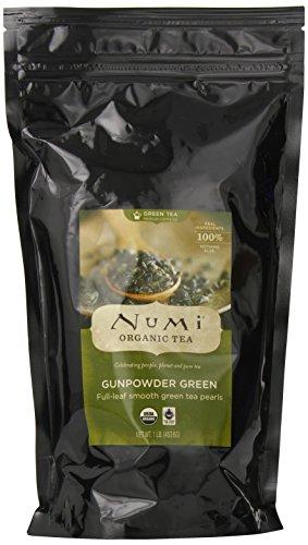 Numi Organic Tea Gunpowder Green – Full Leaf, Loose Leaf, Temple of Heaven Green Tea, 16 Ounce Bag
