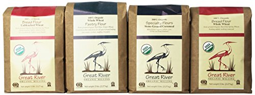 Great River Organic Milling Baker's Gift Set, 4 Pack, 5-Pound (totally 20-Pound)