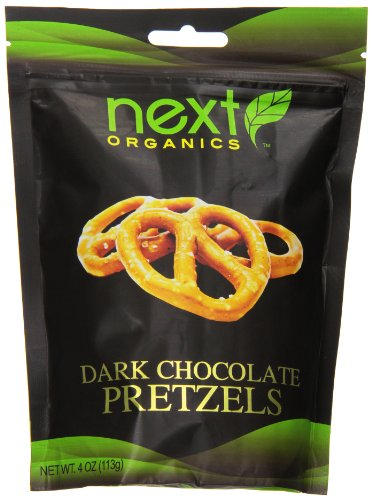 Next Organics Dark Chocolate Covered Pretzels, 4 Ounce