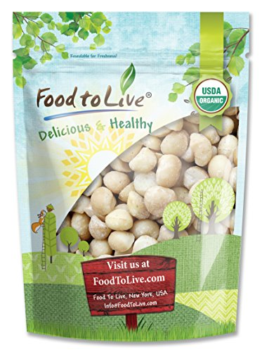 Food to Live® Certified Organic MACADAMIA NUTS (Raw) (2 Pounds)