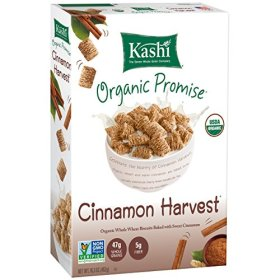 Kashi Organic Promise Cereal, Cinnamon Harvest Whole Wheat Biscuits, 16.3 Ounce