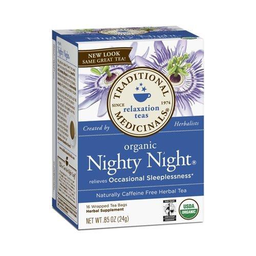 Traditional Medicinals Organic Nighty Night Tea – Caffeine Free – 16 Bags