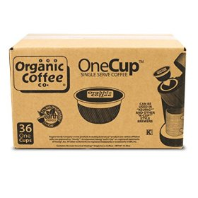 The Organic Coffee Co. OneCup, Breakfast Blend, 36 Single Serve Coffees