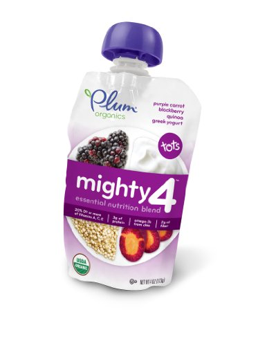 Plum Organics Mighty 4 – Purple Carrot Berry Quinoa Greek Yogurt (1 Count)