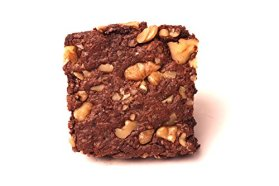Organic Walnut Fudge Brownie – Gluten Free, Vegan, Non-GMO [4 Brownies in Gift Box]