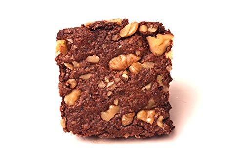 Organic Walnut Fudge Brownie – Gluten Free, Vegan, Non-GMO [4 Brownies in Gift Box]
