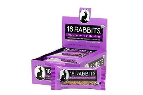 18 Rabbits Organic Granola Bar, Fig, Cranberry & Hazelnut, 1.6 Ounce (Pack of 12)