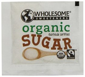 Wholesome Sweeteners Fair Trade Organic Sugar, 500 Count