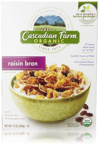 Cascadian Farm Organic Cereal, Raisin Bran, 12 Oz