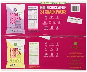 Boom Chicka Pop Organic Popcorn Snack Packs – 24 Packs