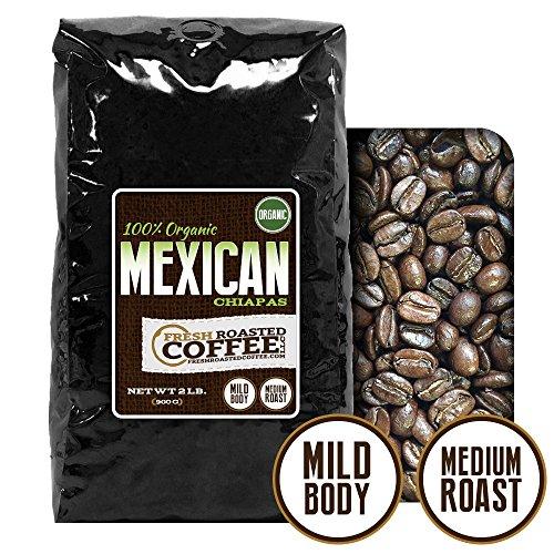 Mexican Chiapas Organic Coffeee, Whole Bean, Fresh Roasted Coffee LLC (2 lb.)