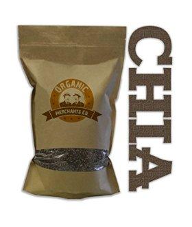 4lb Organic Black Chia Seeds – NON GMO, Kosher, RAW, Gluten Free