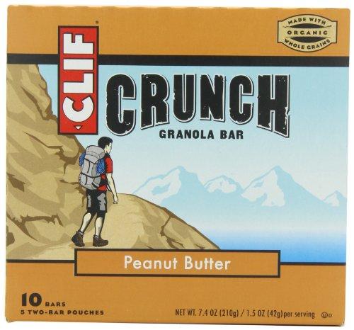 CLIF CRUNCH – Granola Bar – Peanut Butter – (1.48 oz, 5 Two-Bar Pouches)