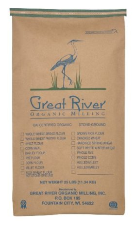 Great River Organic Milling Organic Steel Cut Oats, 25-Pound