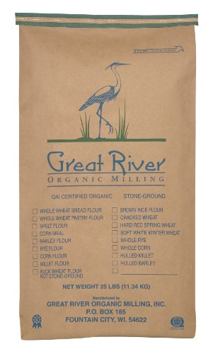 Great River Organic Milling Organic Steel Cut Oats, 25-Pound