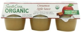 Santa Cruz Organic Apple Cinnamon Sauce, 6-Pack, 4-Ounce Cups (Pack of 4)