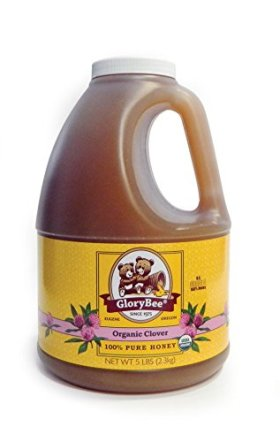 GloryBee Organic Clover Honey, 5 Pound