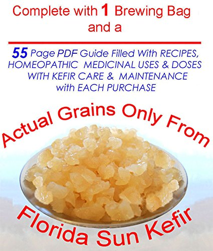 Four Tablespoons of Original KefirLife 100% Organic Water Kefir Probiotic Scoby Grains
