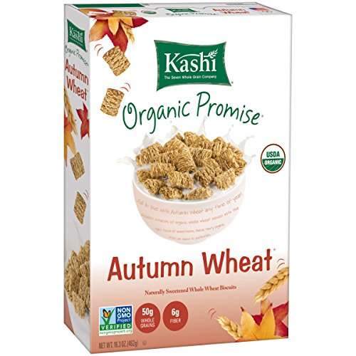 Kashi Organic Promise Cereal, Autumn Wheat, Whole Wheat Biscuits, 16.3 Ounce Boxes (Pack of 4)