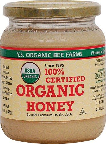 YS Royal Jelly/Honey Bee – Organic Honey, 16 oz gel