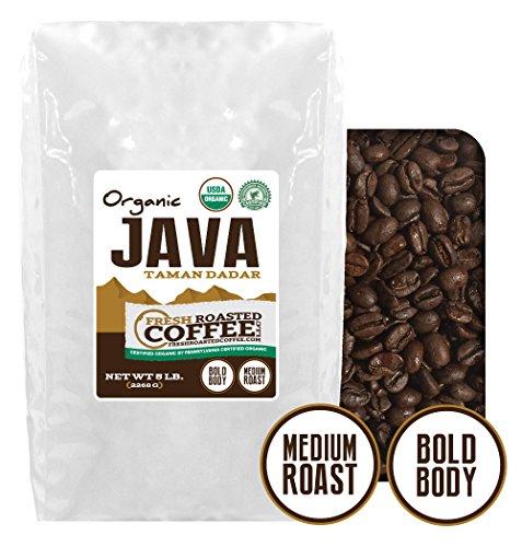 Java Taman Dadar Organic Coffee, Whole Bean, Fresh Roasted Coffee LLC. (5 lb.)
