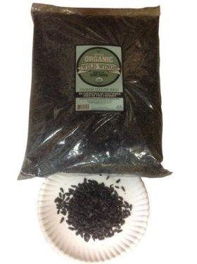Certified USDA Organic Black Oil Sunflower Seeds in Shell 5 Lb Bag