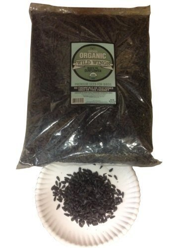Certified USDA Organic Black Oil Sunflower Seeds in Shell 5 Lb Bag