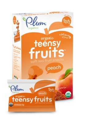 Plum Organics Teensy Fruits, Peach, 1.75 Ounce (Pack of 8)