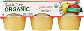 Santa Cruz Organic Applesauce (6 Count, 4 Oz Each)