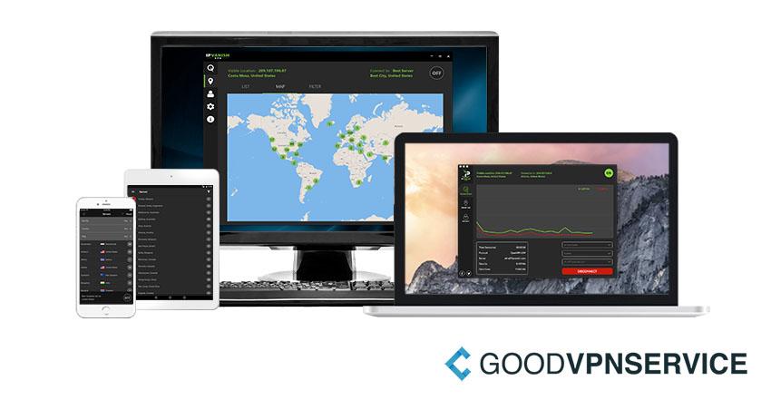 IPVanish VPN software schermen