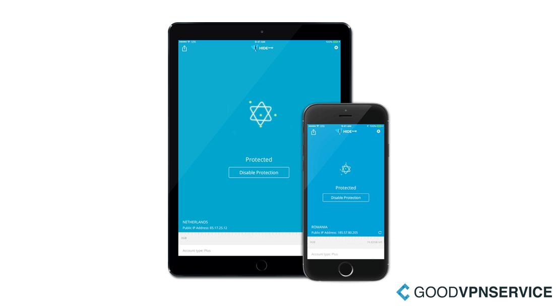 Software voor mobiel en tablet - HideMe