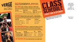 2014 card (mailing side) Large headings in a contrasting color help readers navigate the information.