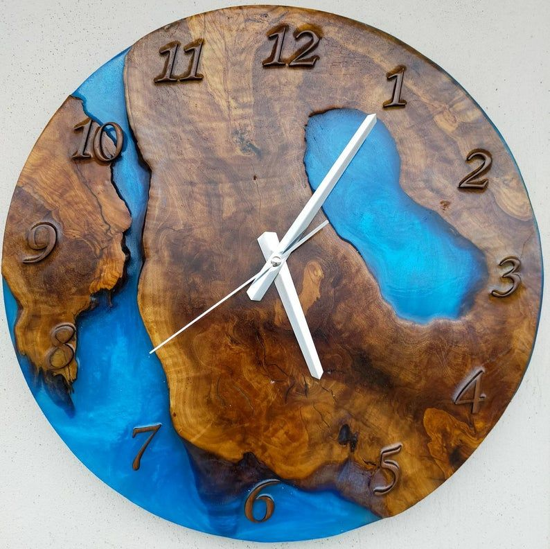 Resin & Wood = functional ART By Resinwoodwallclocks