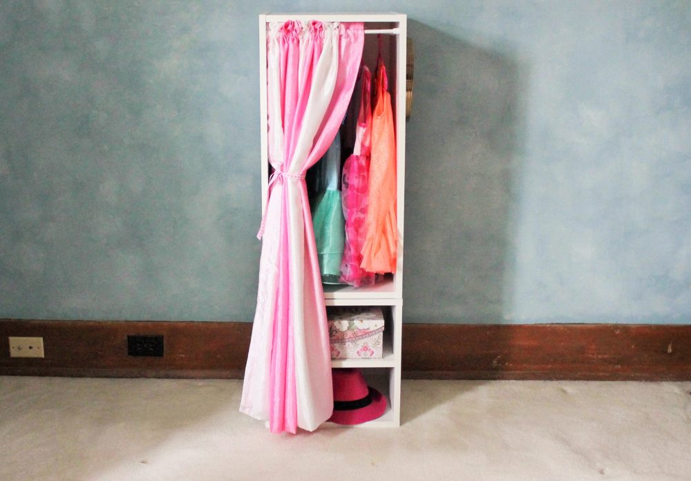 Make A DIY Costume Closet With Storage Cubes Goodwill