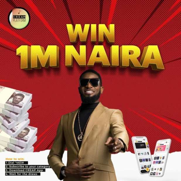 D'Banj's CREAM Platform Set To Give Away Millions of Naira and Brand New Cars | Dial *463# NOW